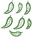 Gumnut Leaves Appliqué. A set of seven appliqué designs for 100mm x100mm hoops.
