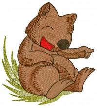 Wally Wombat having a good laugh at his friendRusty's dancing.  Part  of Dancing Set# (10)