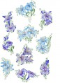 "Line Art Decorative Lilies. Set of ten designs for 8""x8"" 200mmx200mm Hoops."