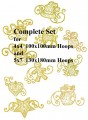 * Delicate Christmas Complete Set for 4x4  100x100mm & 5x7  130x180mm Hoops