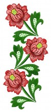 The finished design of three roses from the Russian Splendour Series
