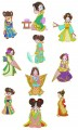 """Baby Geisha.  Set of 10 Designs for 6""""x6"""" 150mmx150mm hoops"""
