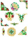 20:  Bright Ornaments. Set of 10. 130x180mm Hoop
