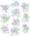 Lotus Flowers is a set of 10 designs for 100mm x100mm hoop