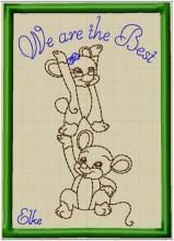 Elke's Postcard  in the hoop - We are the Best