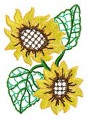 Beautiful Flowers - Sunflower. Elke has digitised this delicate design for 100mmx100mm, 130mm x180mm, 150mmx150mm, and 200mmx200mm hoops