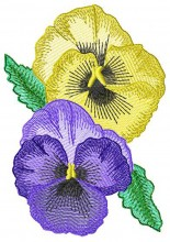Beautiful Flowers - Pansy. Elke has digitised this delicate design for 100mmx100mm, 130mm x180mm, 150mmx150mm, and 200mmx200mm hoops