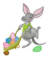 "Easter Bilby. One design for 6""x6"", 150x150mm hoops."