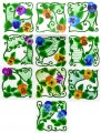 Set of ten Pansy Machine Embroidery Designs