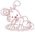 03 Baby Bunny 100x100 Hoop