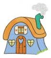 28  Quaint Houses 130x180mm Hoop