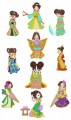 """Baby Geisha.  Set of 10 Designs for 5""""x7"""" 130mmx180mm hoops."""