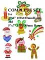 Navidad Complete Set for 4x4   100x100mm & 5x7  130x180mm  Hoops