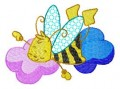 03 Busy Bees 100x100mm Hoop