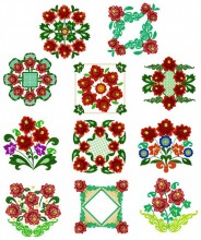 "The eleven designs for the 8""x8"" 200mmx200mm hoop size"