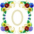 "Fiori de Viola DEsign #1  for 150x150mm , 6""x6""  hoops"