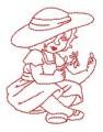 27 Country Sweet Girls 130x180mm Hoop