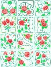 Set of 12 designs.  Watch for my WIP quilt shortly.