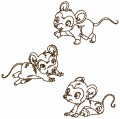 Redwork Just Mini Mice at play is one design for a 150mm x 150mm hoop.