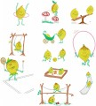 "Lemons in the playground. A set of 11 manually digitised designs for 6""x6"", 150mm x 150mm hoops."