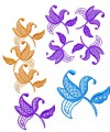 Exclusive Jacobean Flower Designs  4x4 (100x100mm) and larger hoops