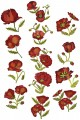 "Wild Poppies. 13 designs for 6""x6"" 150mmx150mm hoops"