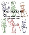 Singing Boys Complete Set for 4x4  100x100mm & 5x7  130x180mm Hoops