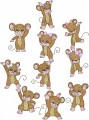 Modular Mice is a set is 10 designs with light fill for 130mm x 180mm hoops