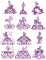 "Elegant Ladies.  A Silhouette Outline Embroidery Set of 12 designs for 5""x7"" 130mmx180mm hoops."