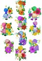 "Large Flower Sunbonnets. A set of ten designs for 130mm x 180mm , 5"" x 7"" hoops."