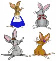 Bilby Story Character Set Mother, Father, Rusty & Rosa for 4x4, 5x7,6x6 hoops