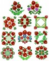 "The full eleven designs for the Russian Splendour 6""x6""  150mmx150mm hoops."