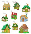20:  Quaint Houses Set of 9. 130x180mm Hoop
