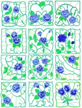 Set of 12 designs.  Look out for my new quilt featuring these charming designs.