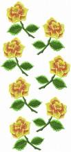 Elke's rose pant leg 1