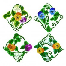 Four of the Pansy Dream set.