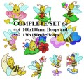 Busy Bees Complete Set for 4x4  100x100mm and 5x7 130x130x180mm Hoops