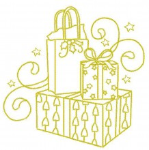 Test Design from the Christmas Gold outline set