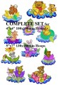 Sailing in Flowers Complete Set for 4x4  100x100mm & 5x7  130x180mm Hoops