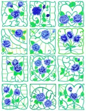 This is the set of twelve designs.  I am working on a great new quilt to show you here.