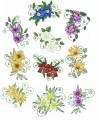 Mountain Flowers is a set is 10 designs with light fill for 200mm x200mm hoops.