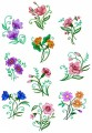 Border free flowers designs