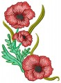 Beautiful Flowers - Poppy for 100mmx100mm, 130mm x180mm, 150mmx150mm, and 200mmx200mm hoops.