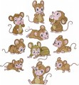 Just Mice is a set is 10 designs with light fill for 130mm x 180mm hoops